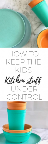 How to keep the kids kitchen stuff under control