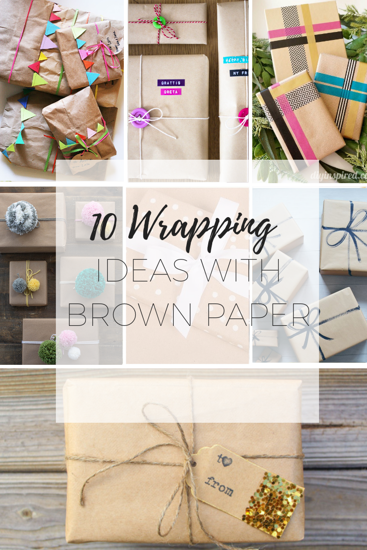Wrapping ideas with brown paper