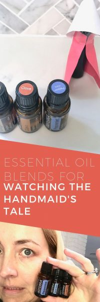 Essential oil blends to support your emotions when watching The Handmaid's Tale season 3 - one for you, one for Offred via www.clairekcreatoins.com