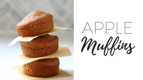 Whole food apple muffins