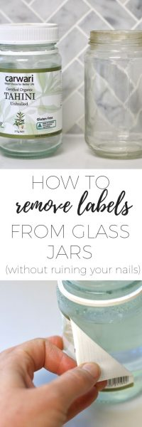 how to remove labels from glass jars without ruining your nails