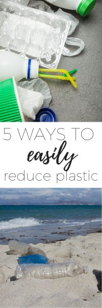 5 ways to reduce plastic at home that are quick and easy and won't require you having to remember to bring your keep cup or your shopping bags. Reduce your plastic use at home simply.