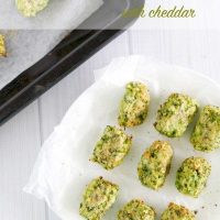Broccoli tots (with cheddar)