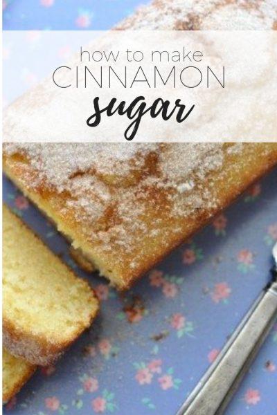 How to make cinnamon sugar on a tea cake