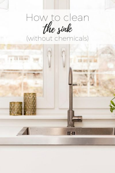 How to clean the kitchen drain with no chemicals