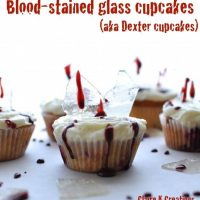 Bloody glass raspberry cupcakes