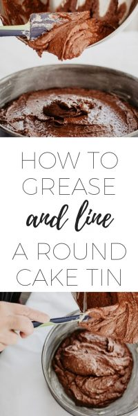 How to grease and line a round cake tin