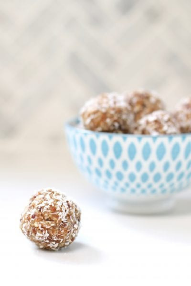 Nut free apricot bliss balls