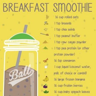 Chocolate breakfast smoothie
