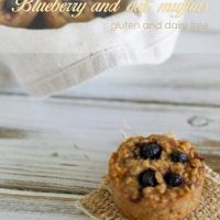 Blueberry and oat muffins (gluten & dairy free)