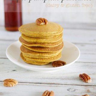 Maple pumpkin pancakes (dairy & gluten free)