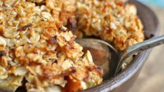 ANZAC apple breakfast crumble