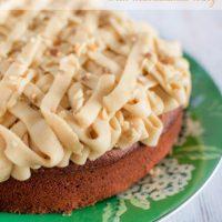 Carrot and banana cake with macadamia icing