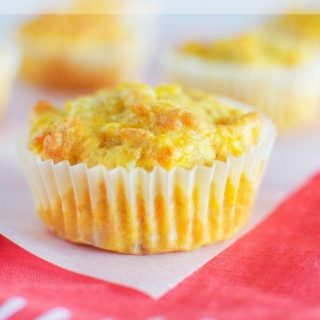 Carrot corn and cheddar muffins