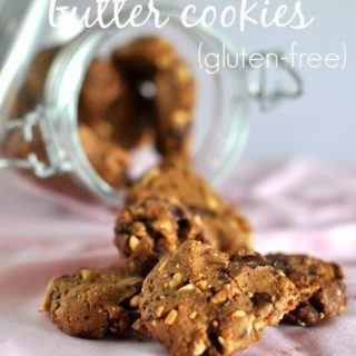 Gluten free chocolate peanut butter biscuits