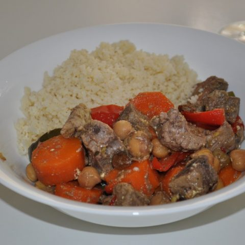 Moroccan lamb curry in the slow cooker
