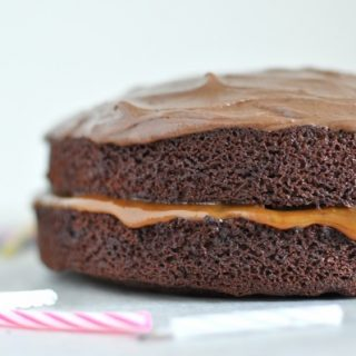 Salted caramel filled chocolate cake - Happy Birthday to me!