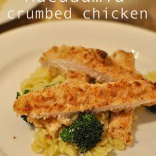 Macadamia crumbed chicken - my perfect chicken schnitzel