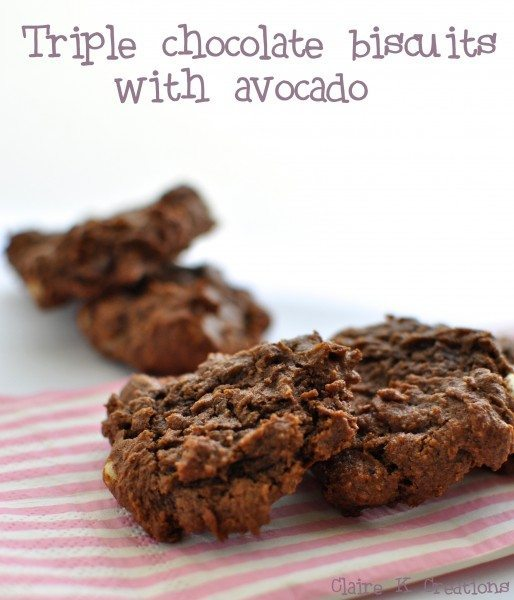 Triple choc chip biscuits with avocado