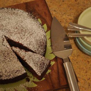 Choc-banana cake