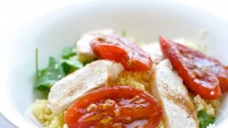 Chicken and couscous citrus salad