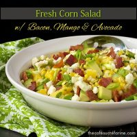 Fresh Corn Salad from The Cafe Sucre
