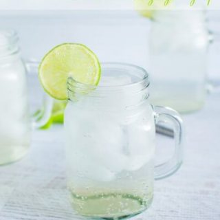 Ginger and lime fizz (with homemade ginger syrup)
