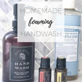 Homemade foaming hand wash