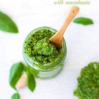Basil and kale pesto