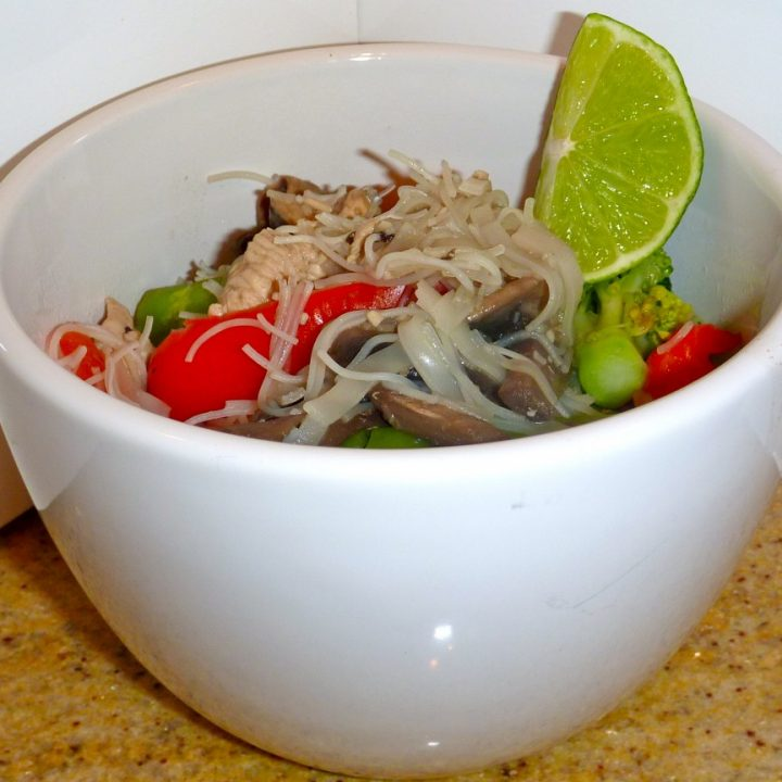 Chicken Pad Thai - low calorie version