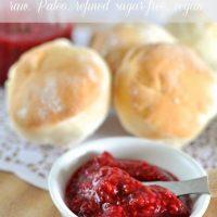 Paleo raspberry jam