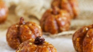 Pumpkin apricot and macadamia balls