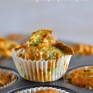 Feta pumpkin spinach savoury muffins
