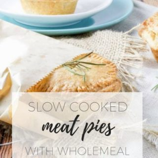 Slow cooked beef pies with wholemeal yoghurt pastry