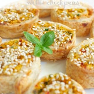 Chickpea vegetarian sausage rolls