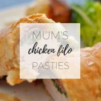 Chicken filo parcels