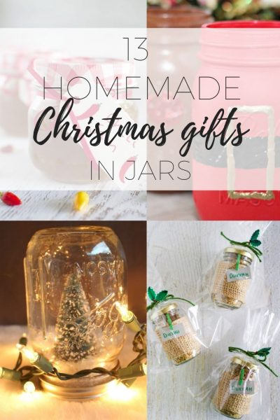 Homemade Christmas gifts in jars