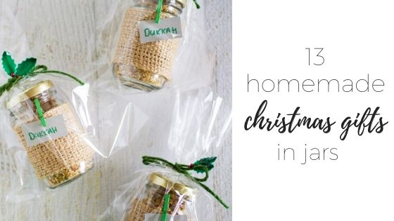 Christmas gifts in jars