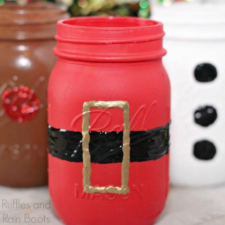 Christmas Mason Jars - A Quick, Fun Craft for Everyone