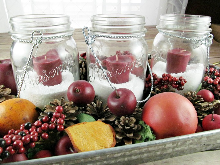 How to Make Easy Mason Jar Christmas Centerpieces