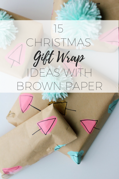 15 Christmas Gift Wrap Ideas with Brown Paper