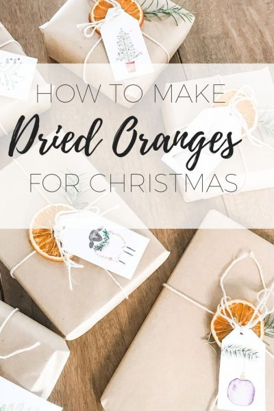 How to make dried oranges for Christmas decorating or present wrapping