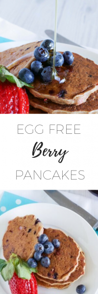 Egg Free berry Pancakes