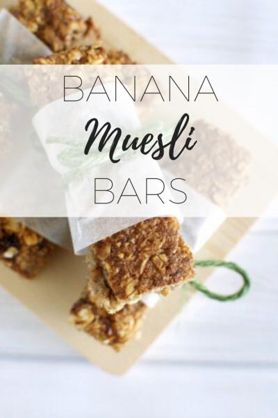 Banana muesli bars - quick and easy snacks.