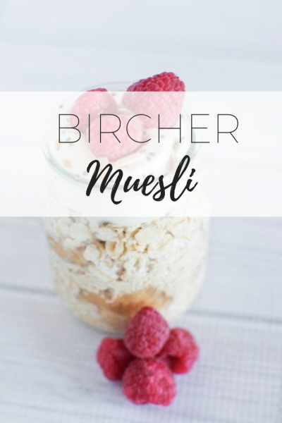 Bircher Muesli - on the go snack via www.clairekcreations.com
