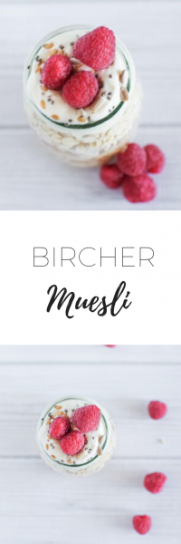Bircher muesli - quick and easy snack.