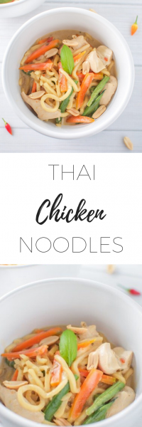 Thai chicken noodles - quick, easy and delicious!