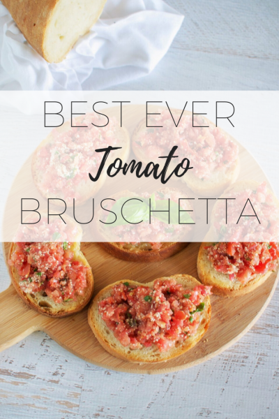 Best ever tomato bruschetta - easy to make healthy breakfast.