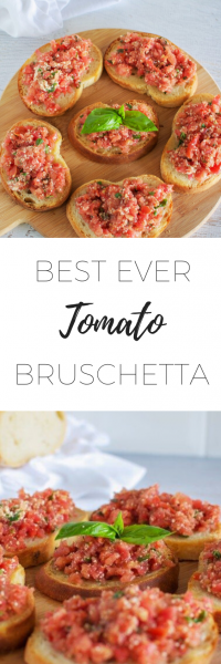 Best ever tomato bruschetta - quick and easy to make breakfast.