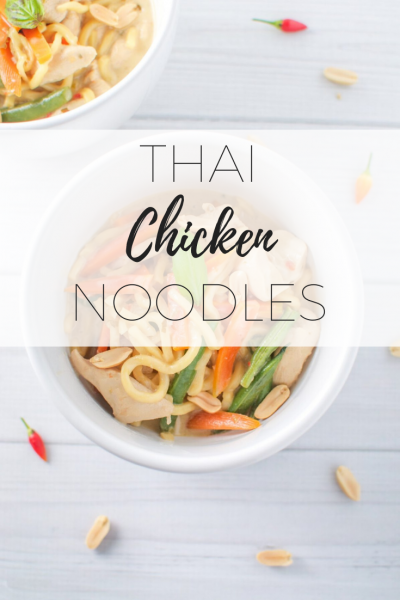 Thai chicken noodles -quick, easy and delicious!